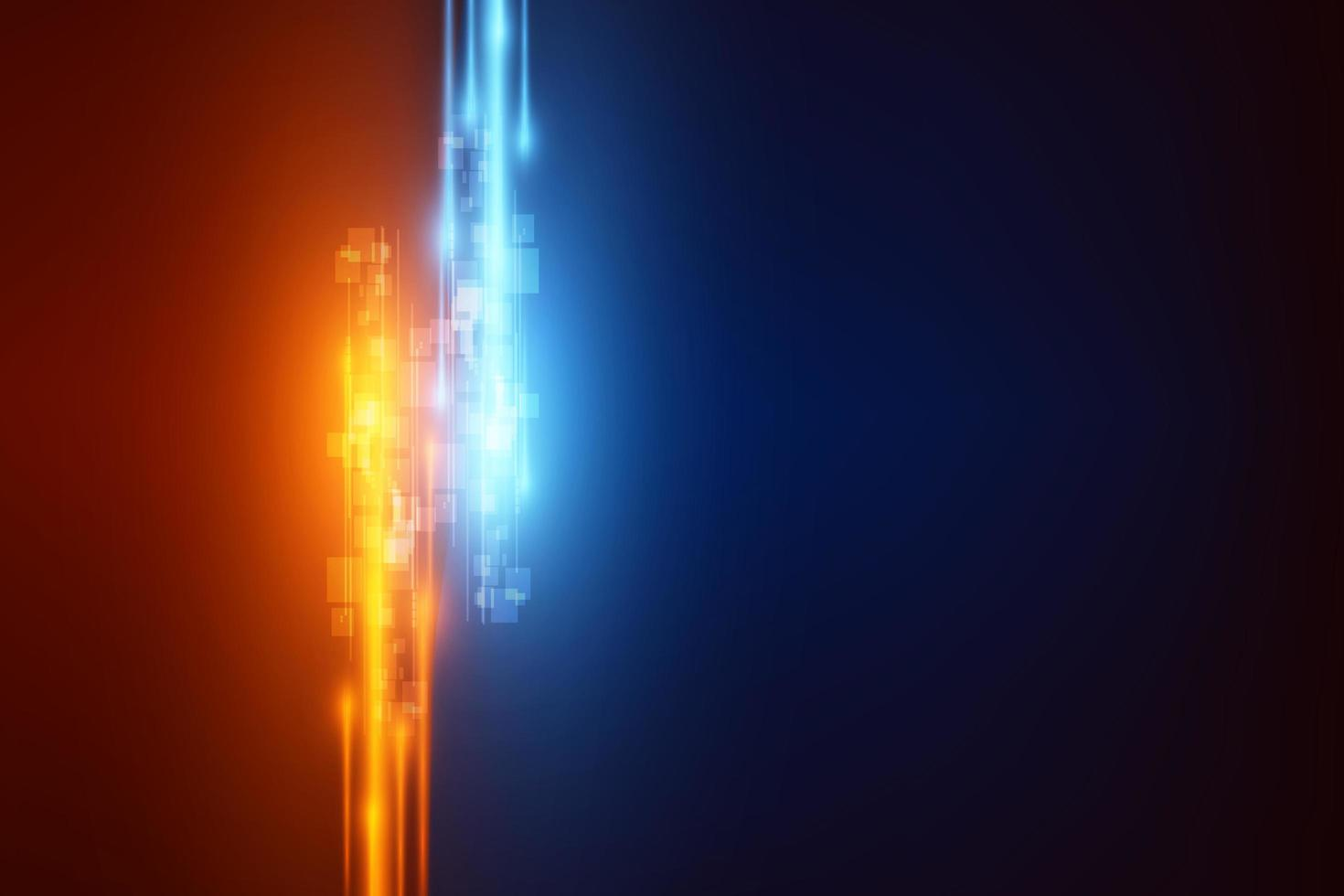 lignes de vitesse abstraites de technologie bleue et or de haute technologie vecteur