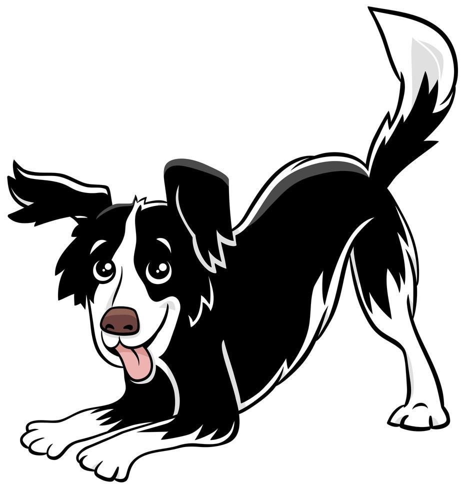 dessin animé chien ludique personnage animal comique vecteur