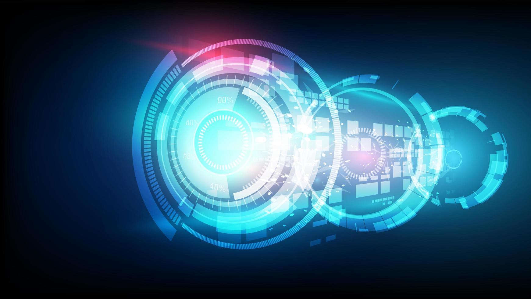 Abstract vector connexion bleue futuriste haute technologie numérique