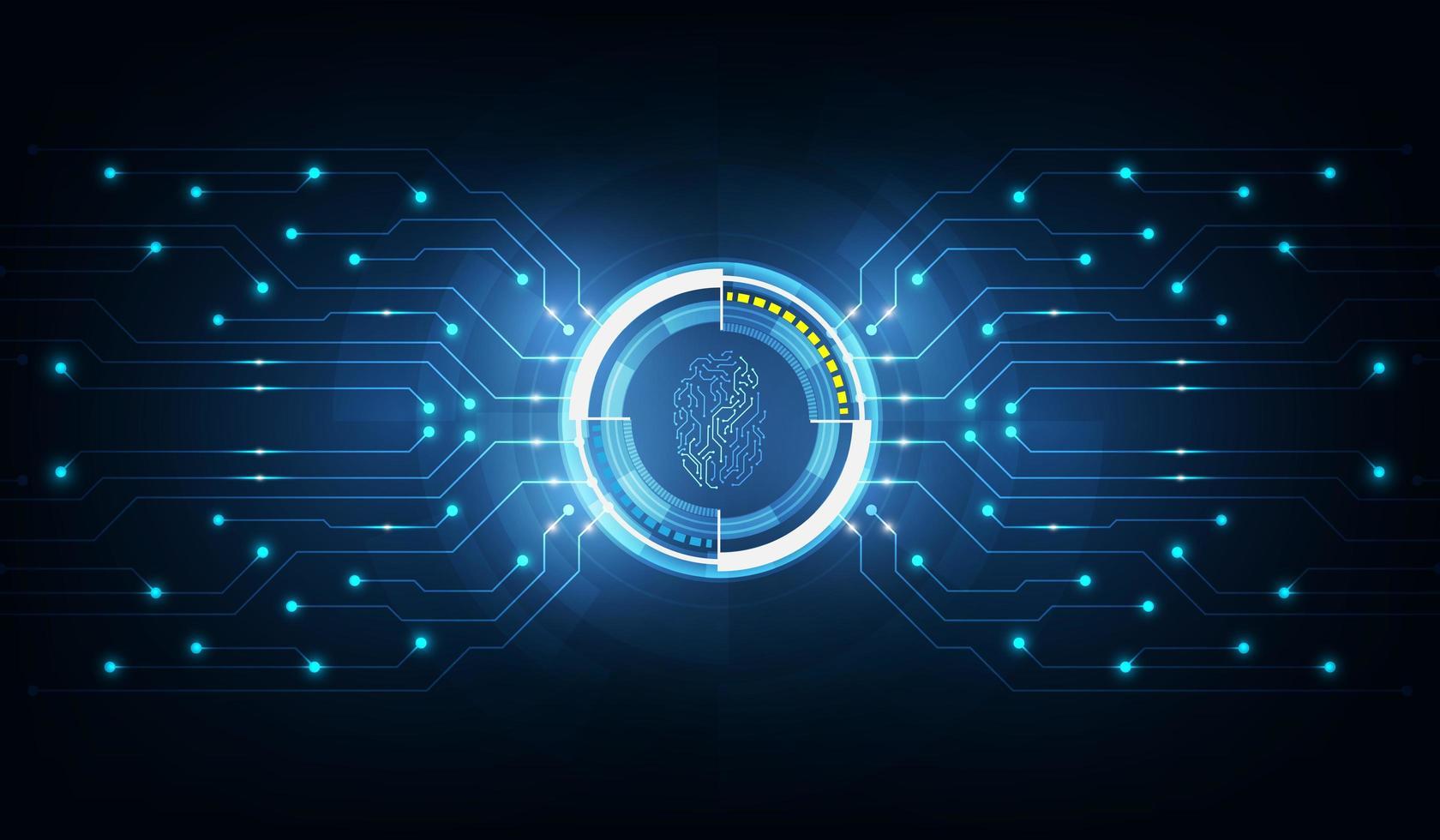 technologie abstraite background.security system concept avec empreinte digitale lettre p signe.vector illustration vecteur