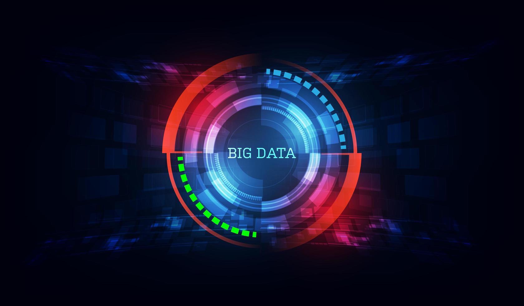 fond abstrait technologie de données vecteur