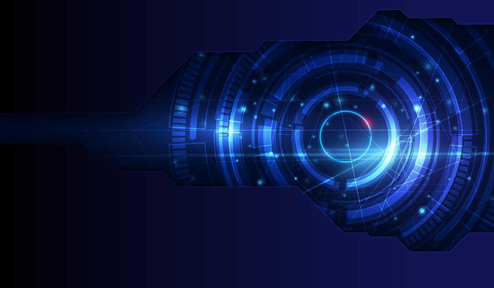 fond de technologie abstraite de lumière bleue vecteur