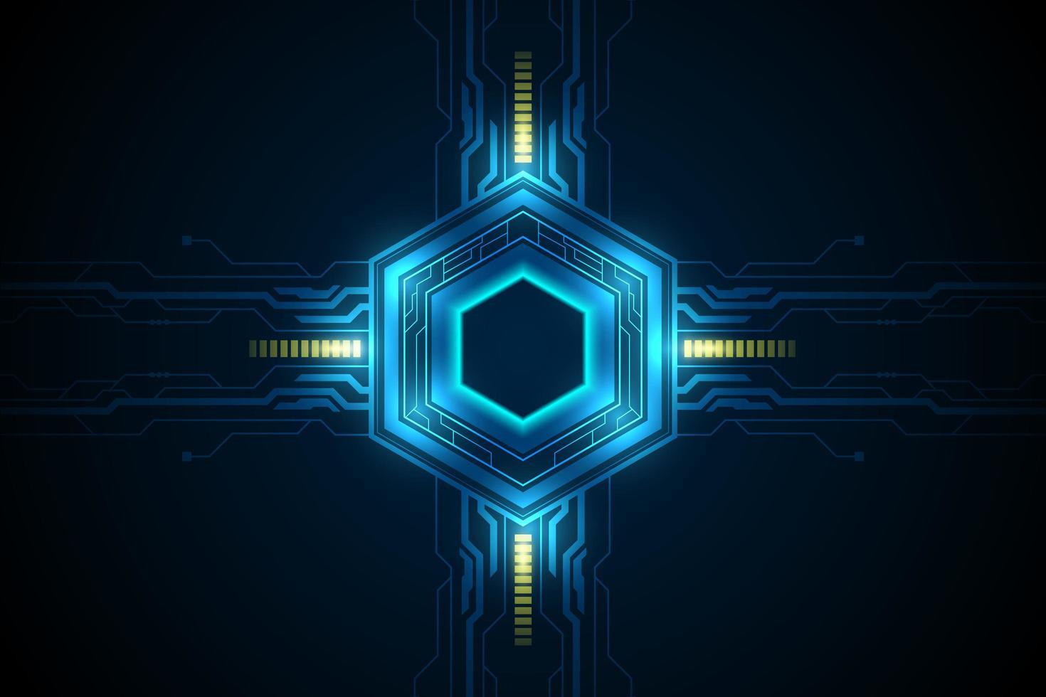 motif de science-fiction futuriste hexagonal vecteur