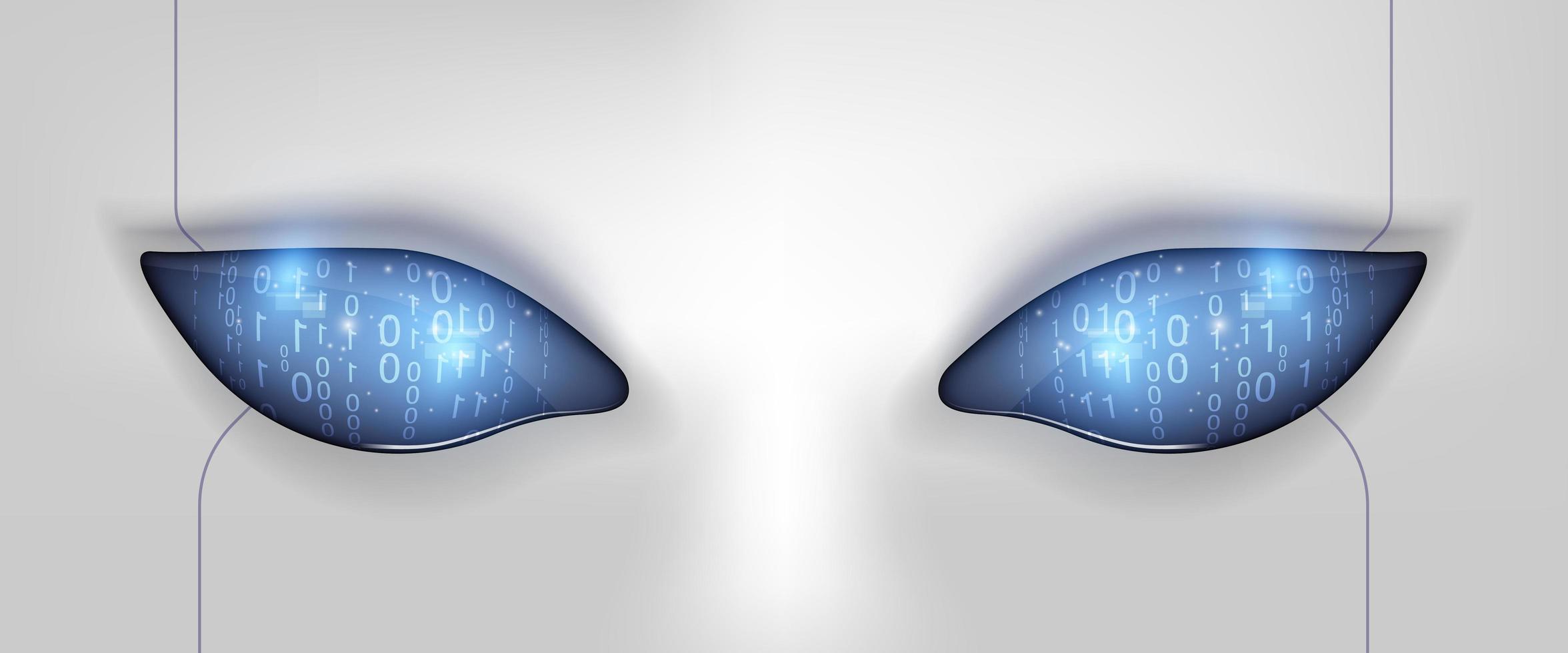 œil du robot. interface hud futuriste vecteur
