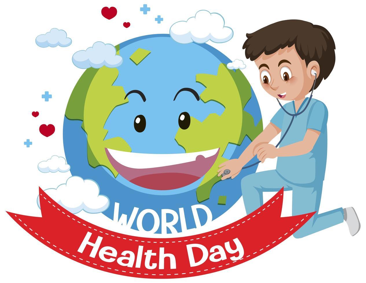 logo de la journée mondiale de la santé vecteur