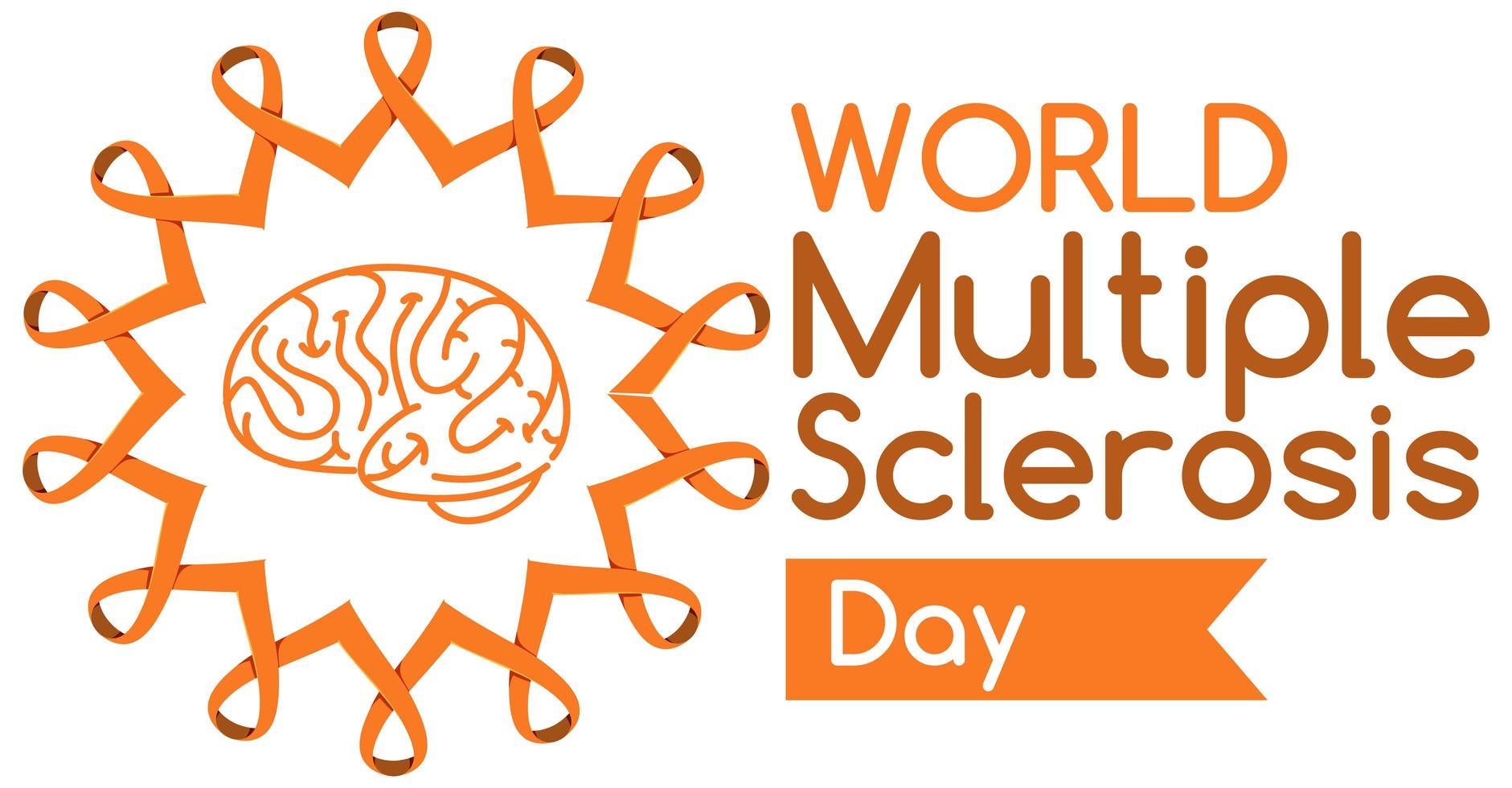 logo ou bannière de la journée mondiale de la sclérose en plaques vecteur