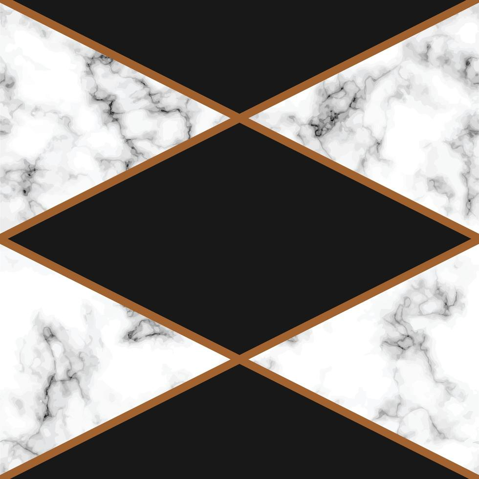 conception de texture de marbre avec des lignes géométriques dorées vecteur