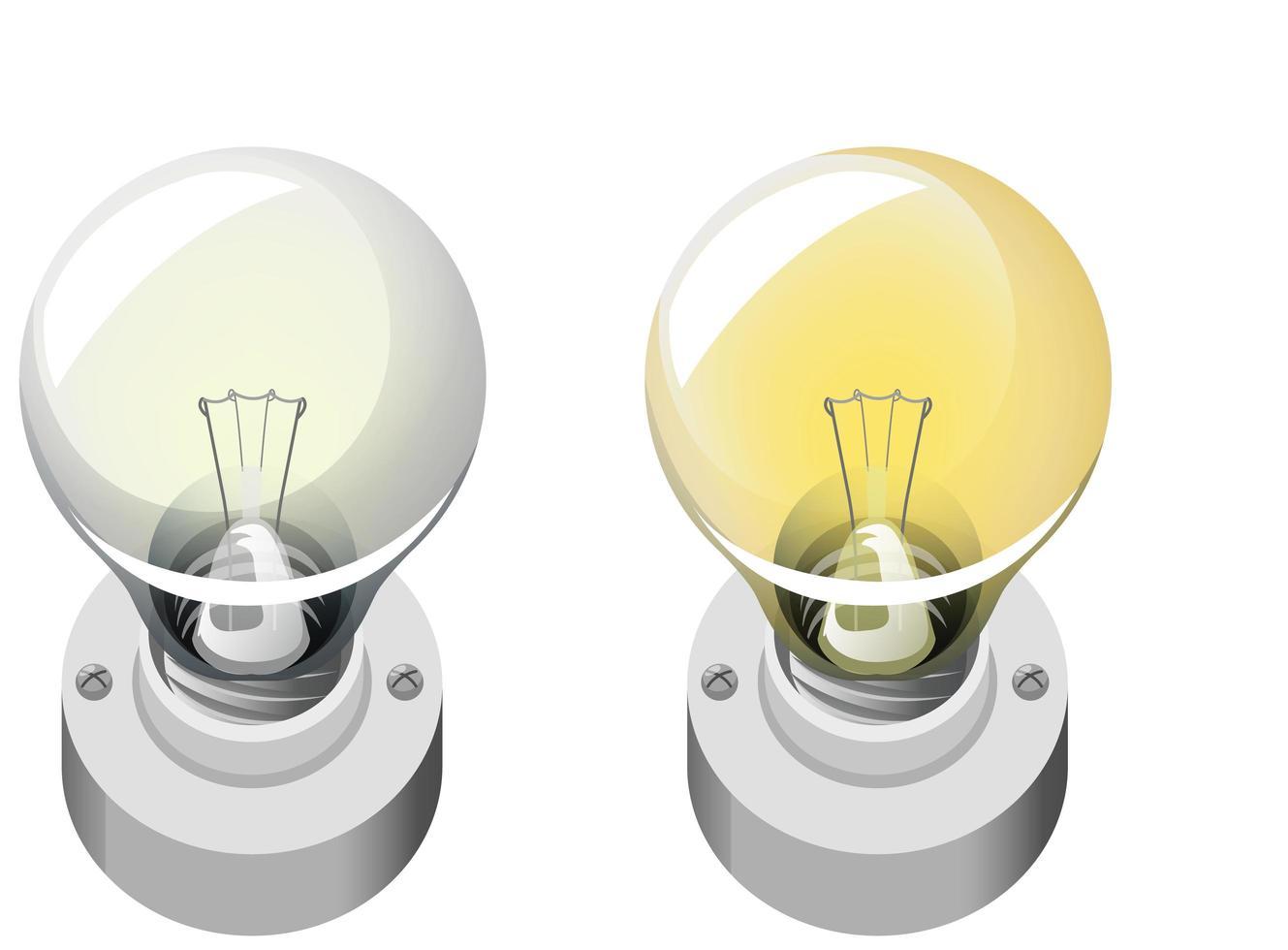 style de dessin animé ampoule isolé sur fond blanc vecteur