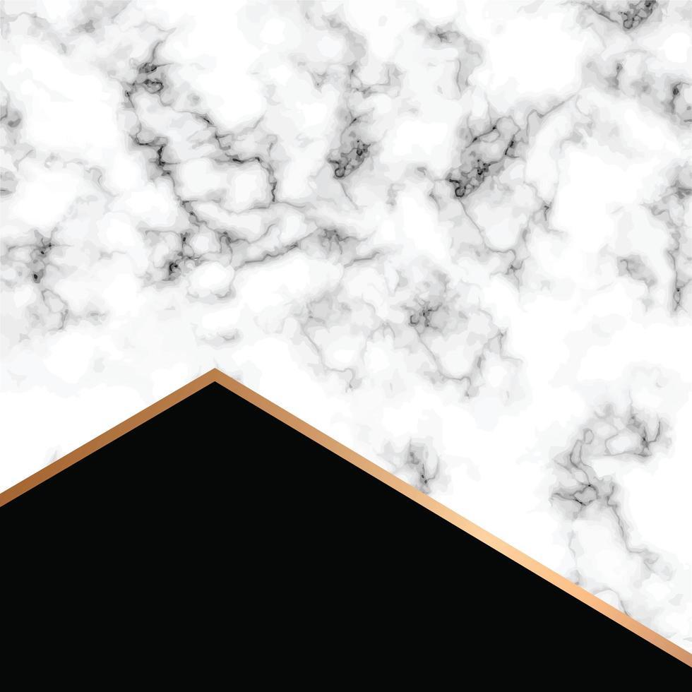 conception de texture de marbre de vecteur avec des lignes géométriques dorées
