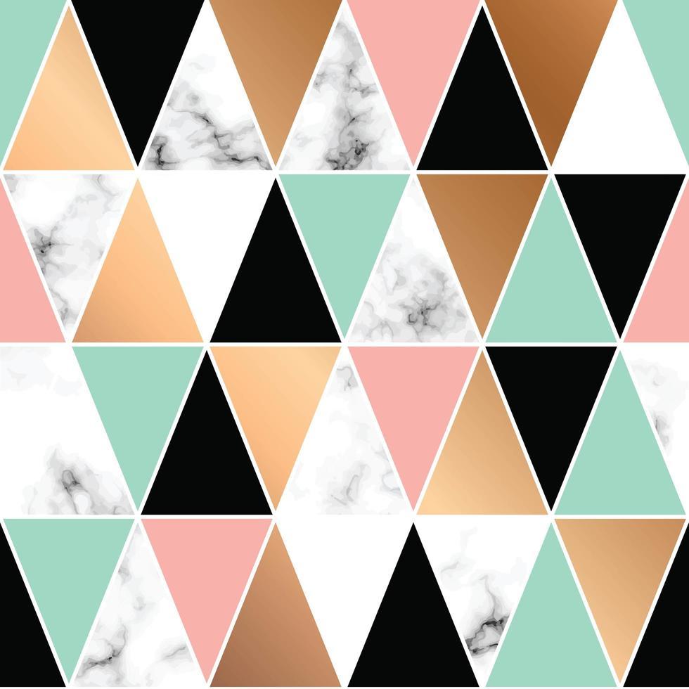 conception de texture de marbre avec des formes géométriques vecteur