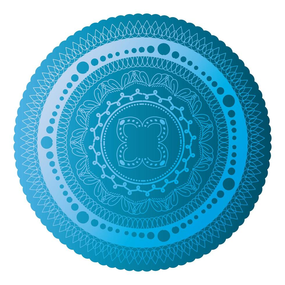 mandala de couleur bleu saphir vecteur