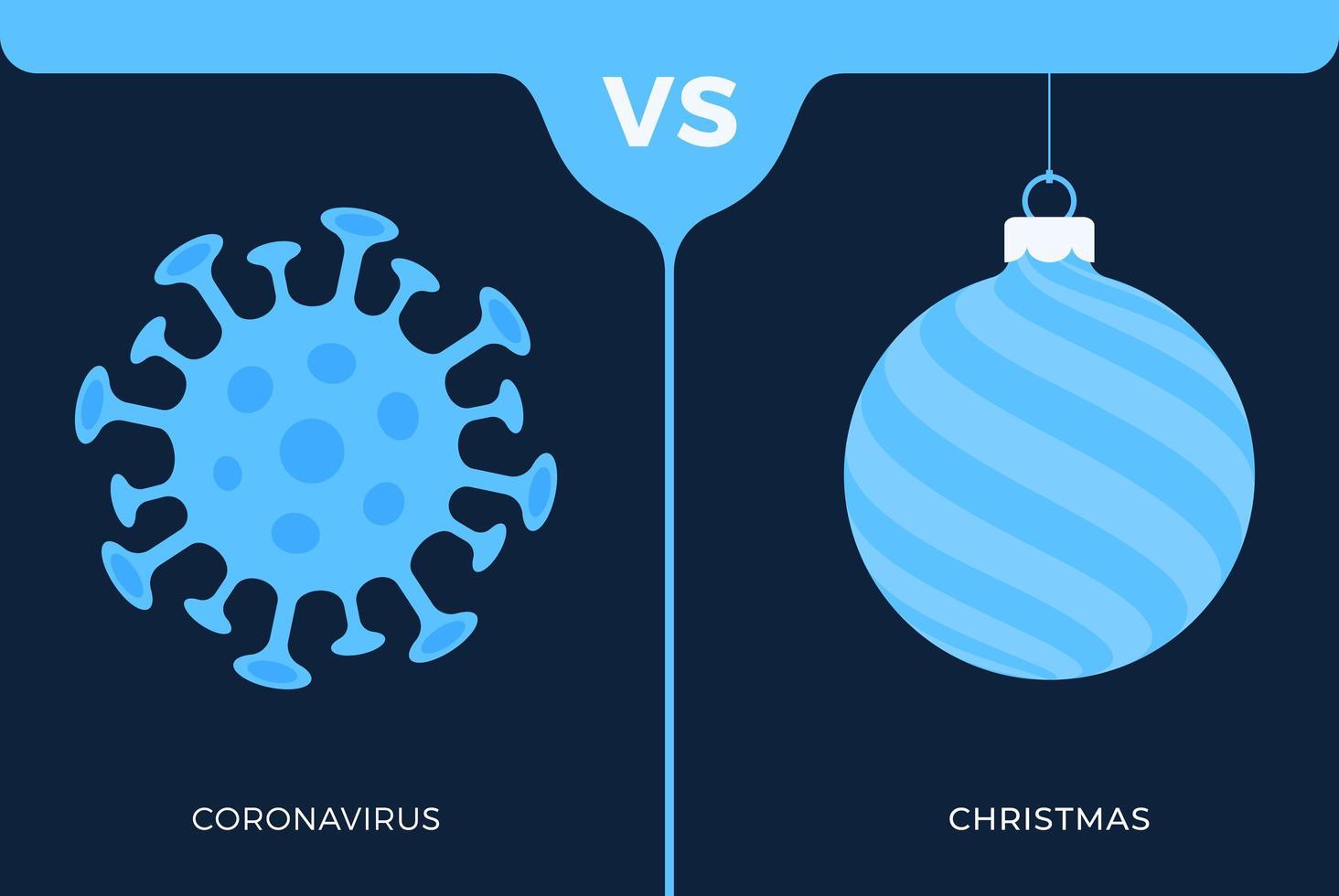 concept de Noël vs coronavirus vecteur