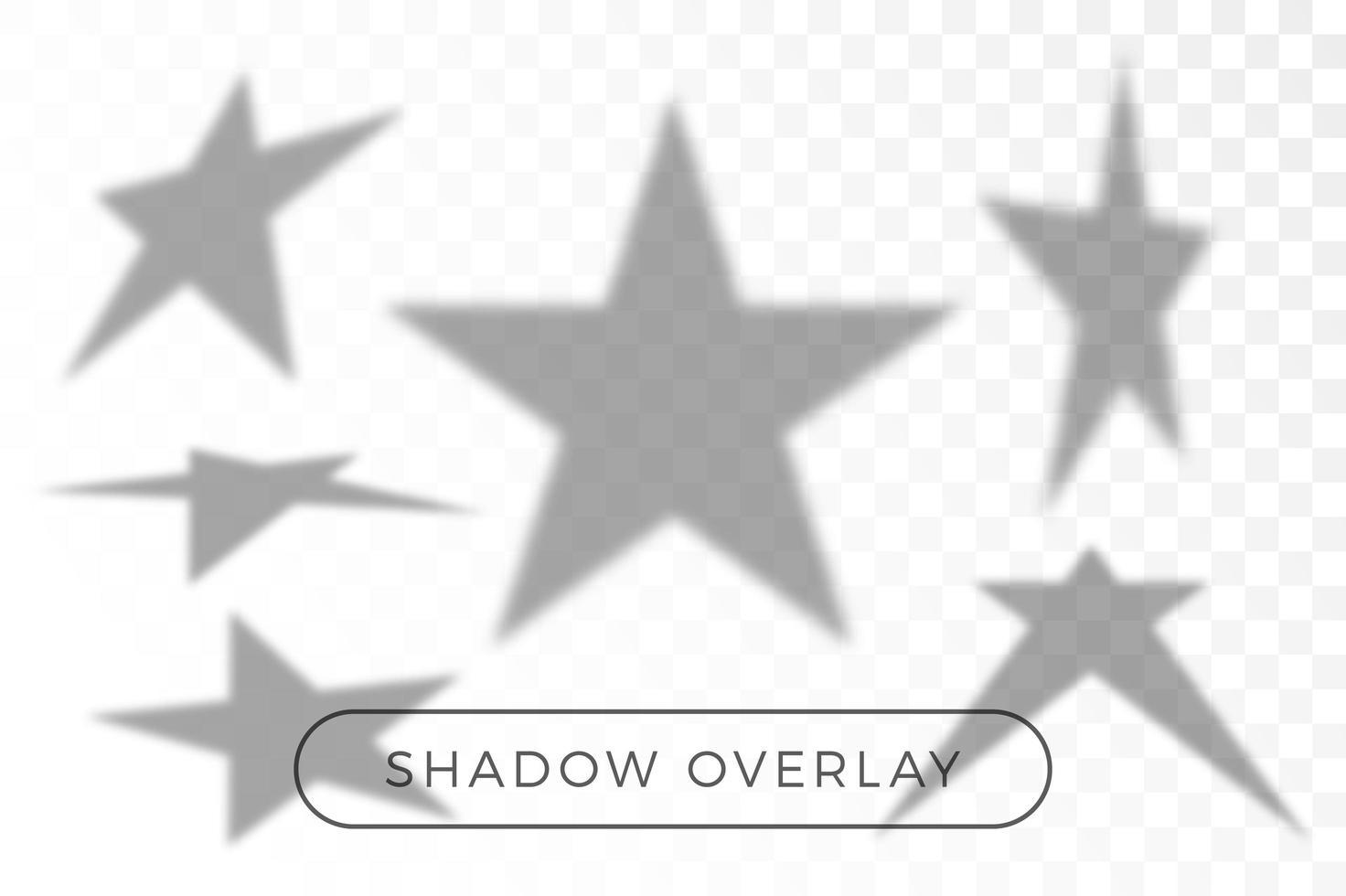 ensemble de superposition d'ombre étoile vecteur