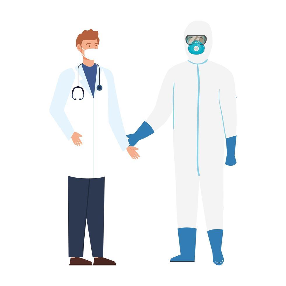 Les travailleurs du domaine de la santé vecteur