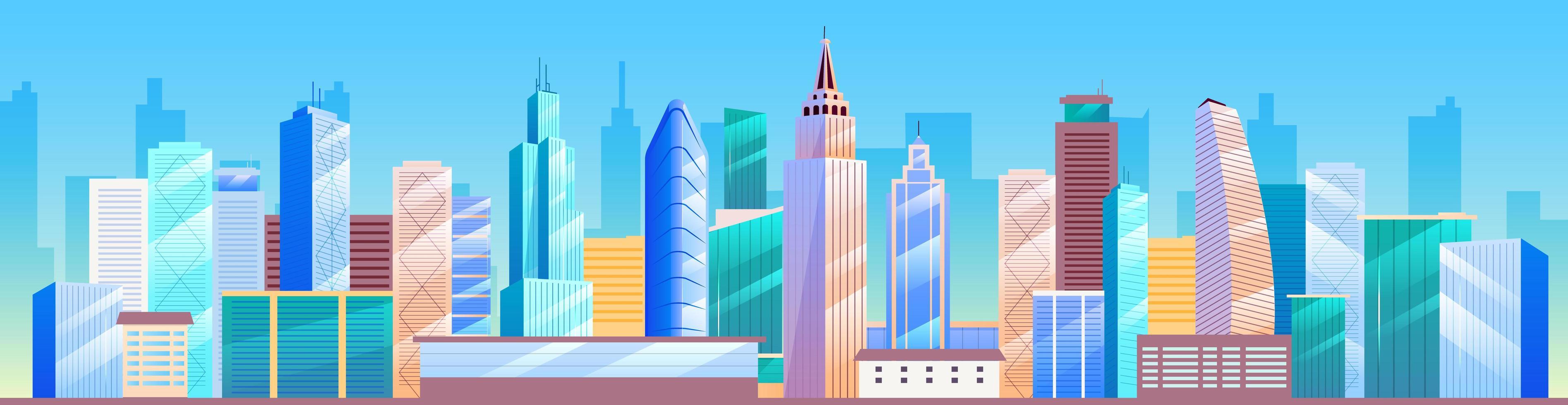 Horizon de la ville. métropole vecteur