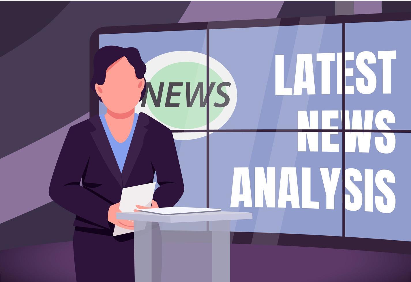 dernière bannière d'analyse des actualités vecteur