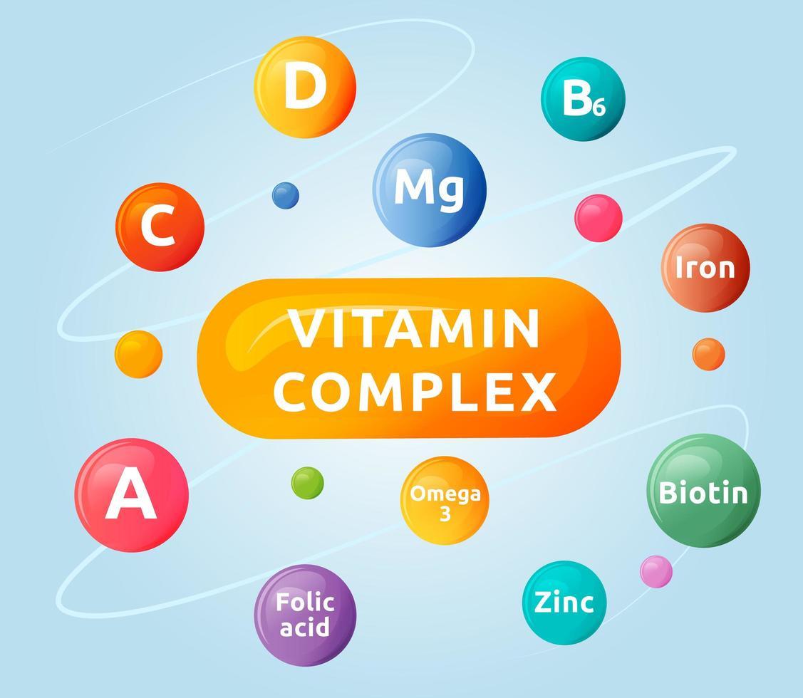 complexe de compléments alimentaires vecteur
