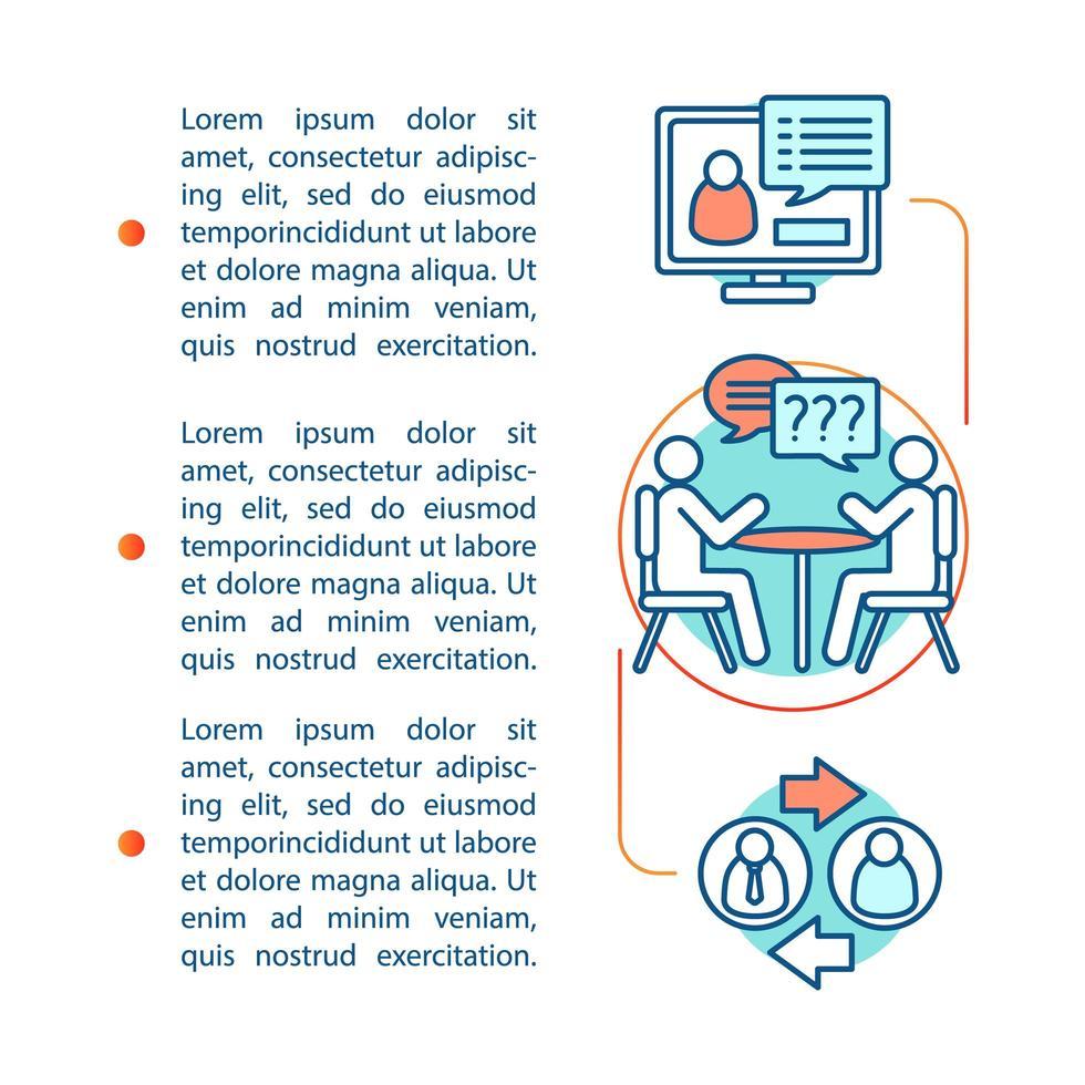 modèle de page d'article sur les compétences en communication vecteur