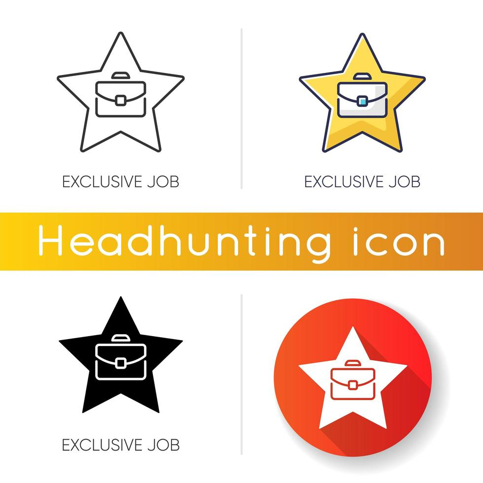 icônes de travail exclusives vecteur