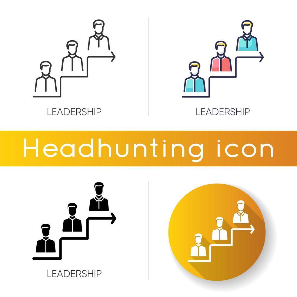 jeu d'icônes de leadership vecteur
