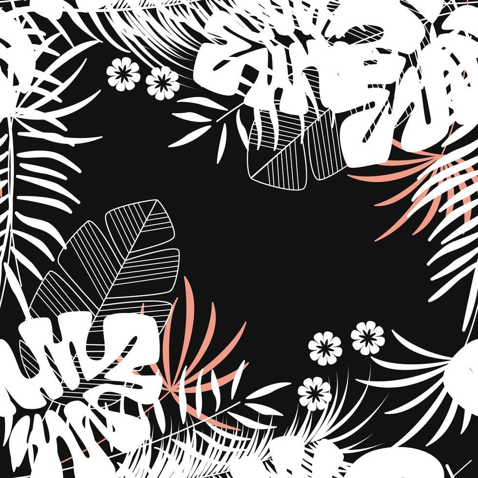 motif tropical sans soudure de lété avec des feuilles de palmier monstera vecteur