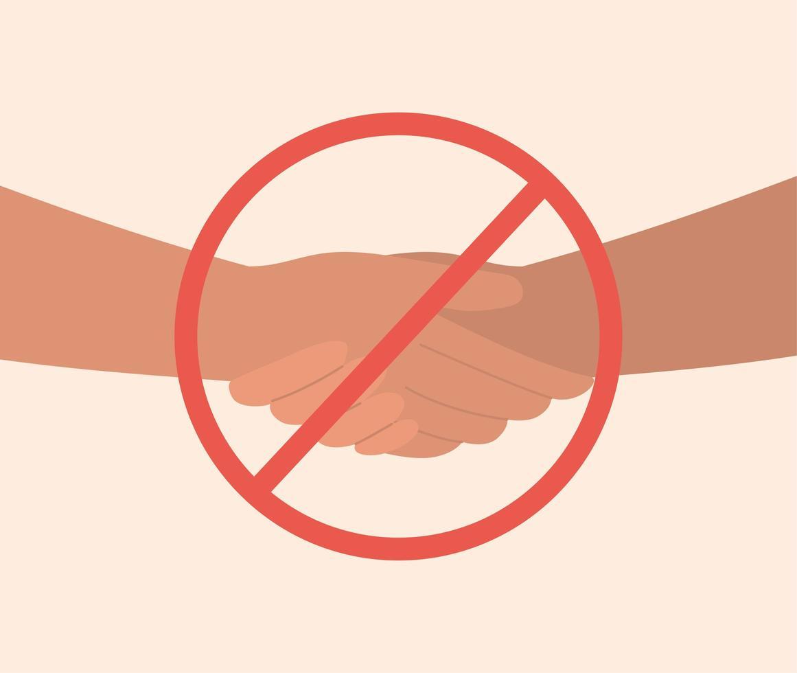 conception de poignée de main interdite isolée vecteur