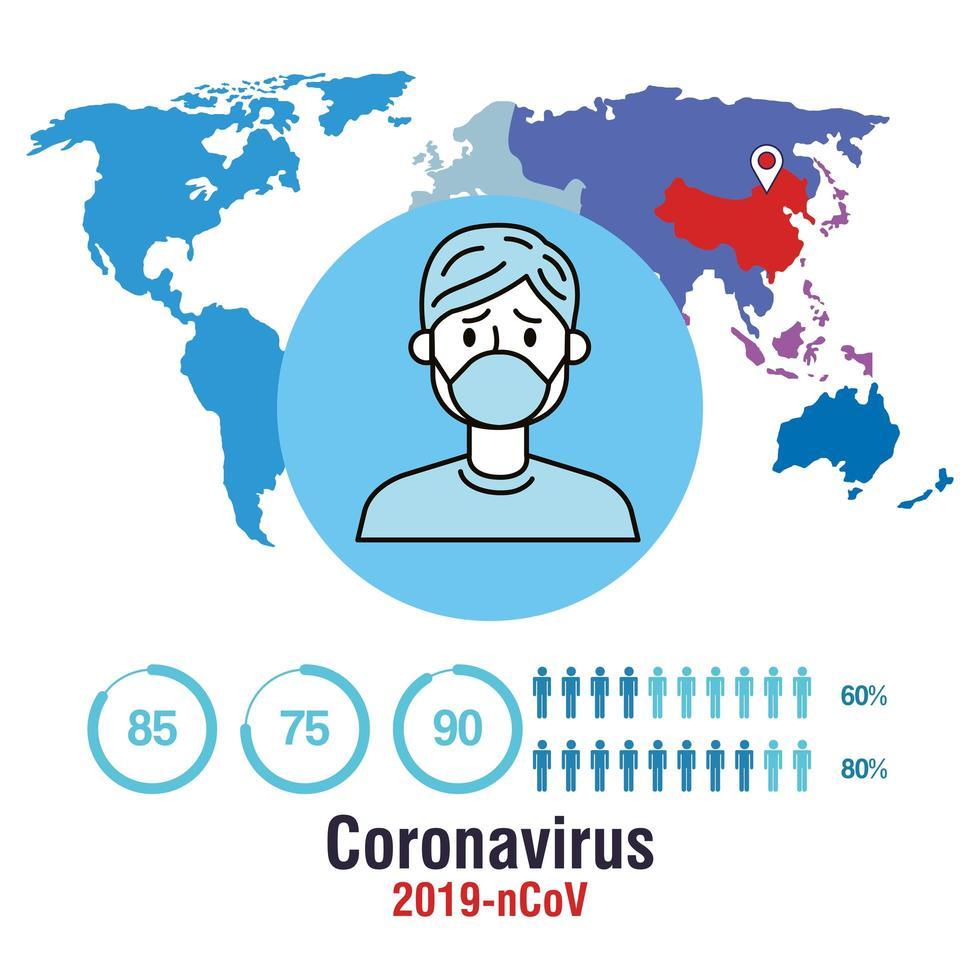 bannière de prévention des coronavirus vecteur