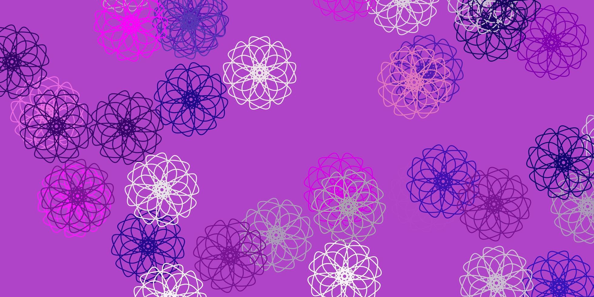 aménagement naturel violet clair, rose avec des fleurs. vecteur