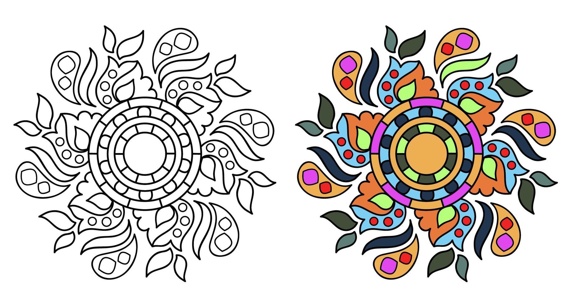 Page De Livre De Coloriage Mandala A Colorier Decoratif Ornemental Arrondi Pour Adultes Telecharger Vectoriel Gratuit Clipart Graphique Vecteur Dessins Et Pictogramme Gratuit