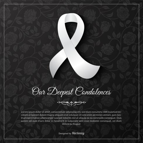 Modèle de Carte de vecteur de nos condoléances les plus profondes