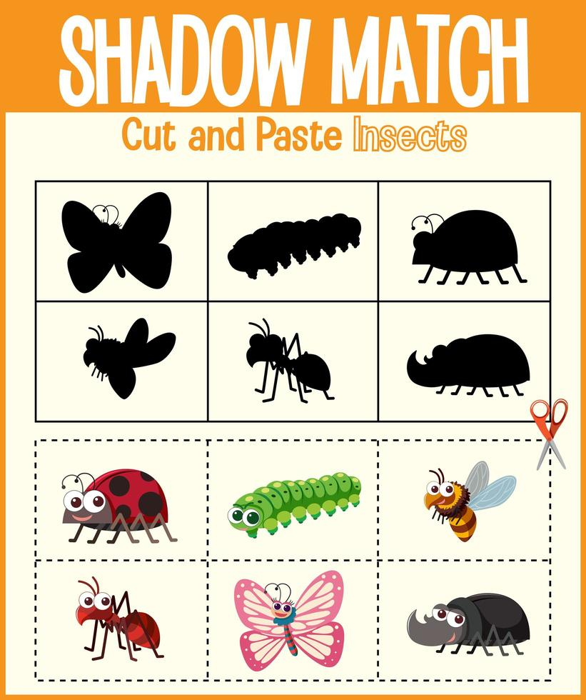 trouver la bonne feuille de calcul d'ombre et de correspondance d'ombre vecteur