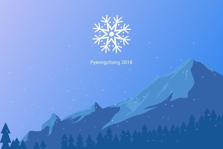 Vecteurs emblématiques des Jeux olympiques d'hiver vecteur