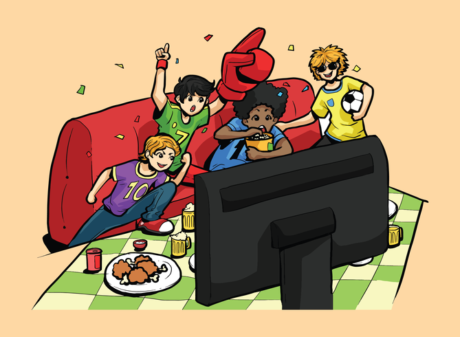 Illustration vectorielle de Football Party vecteur