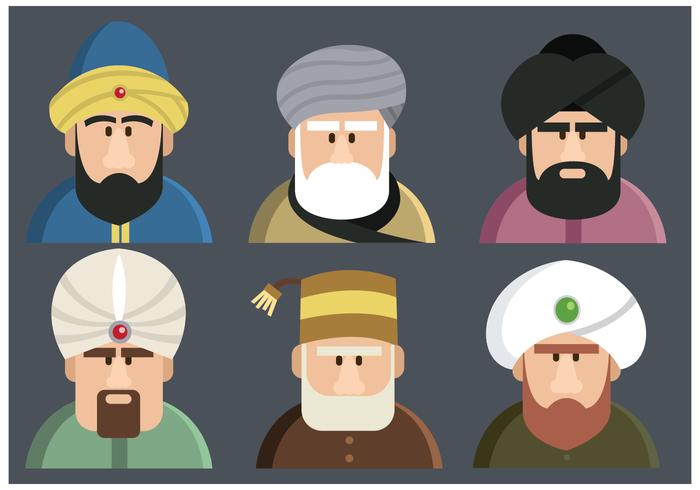 Vecteur de personnages de sultan
