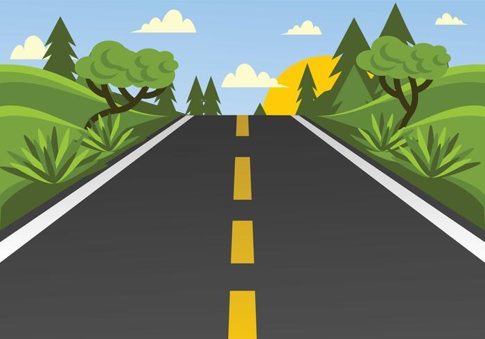Illustration vectorielle de route vecteur