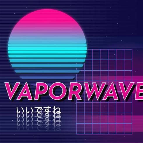Fond Vaporwave vecteur