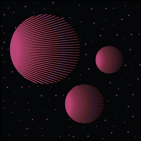 Abstrait style géométrique rétro vintage des années 80 vecteur