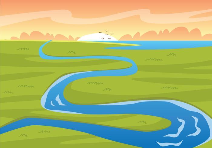 Illustration de la mare de la rivière Trough vecteur