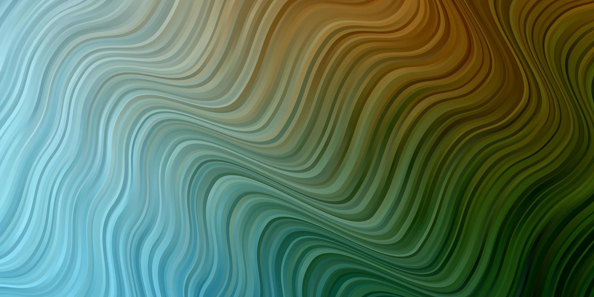 toile de fond de vecteur bleu clair, vert avec arc circulaire.