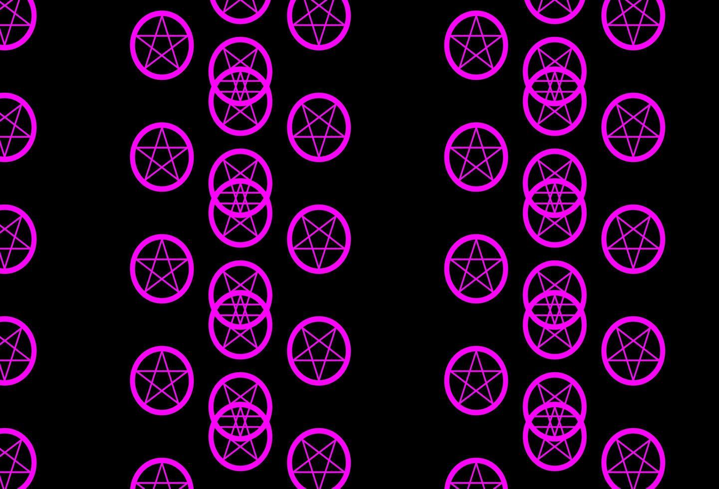 toile de fond de vecteur violet foncé, rose avec des symboles mystérieux.