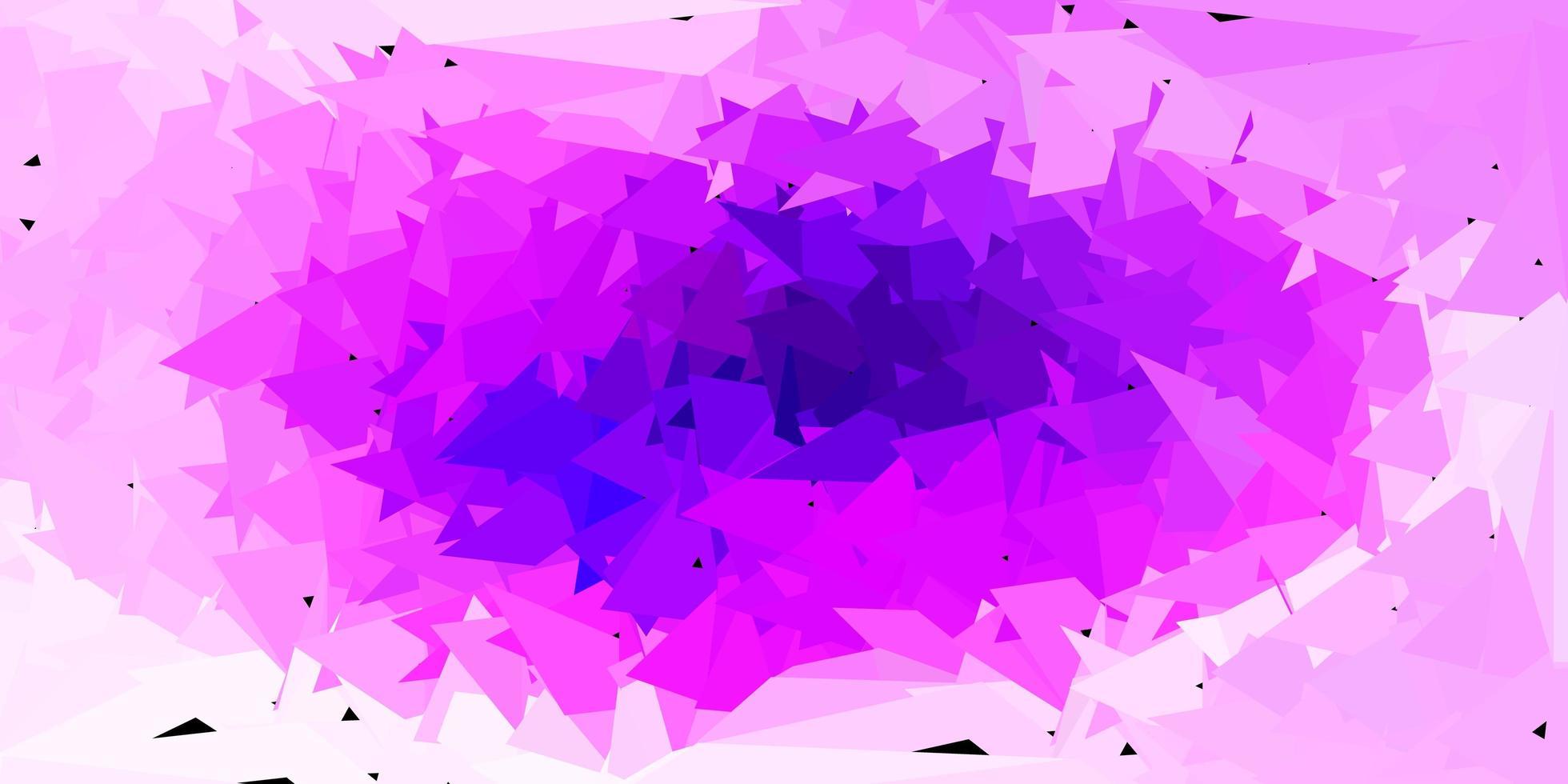 Disposition de polygone dégradé vecteur violet clair, rose.