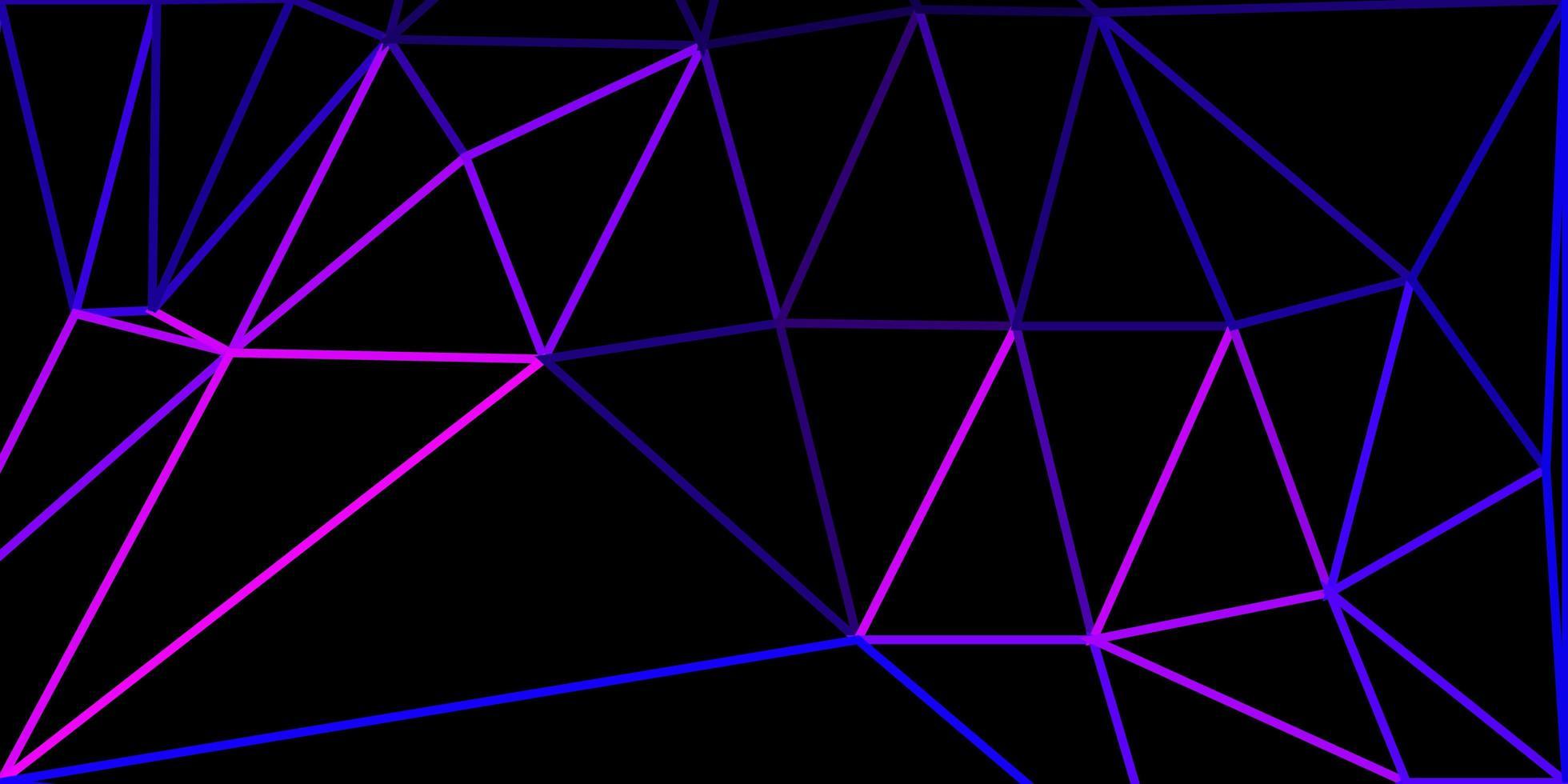 modèle de mosaïque triangle vecteur violet clair.