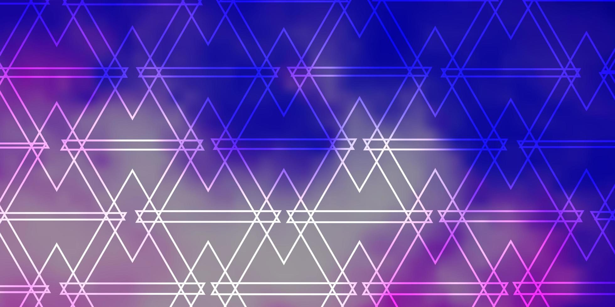 fond de vecteur violet clair avec des triangles.