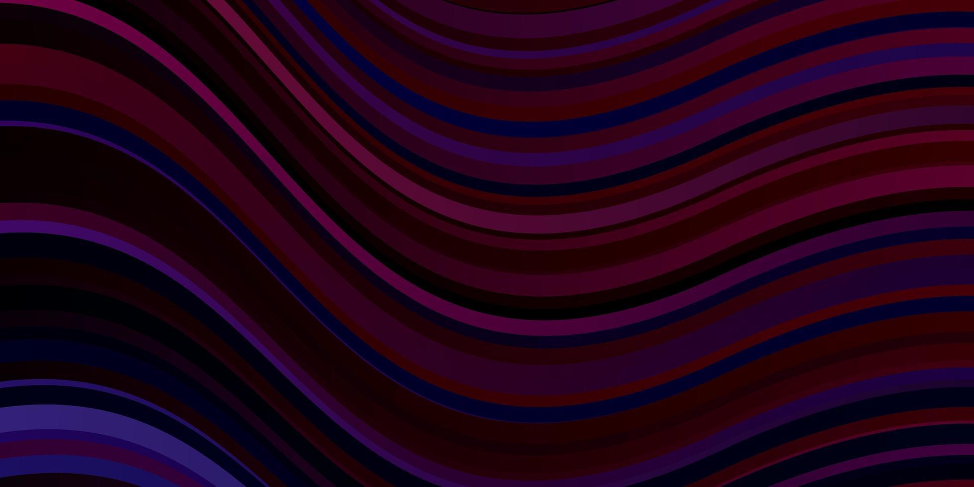 modèle vectoriel bleu foncé, rouge avec des lignes courbes.