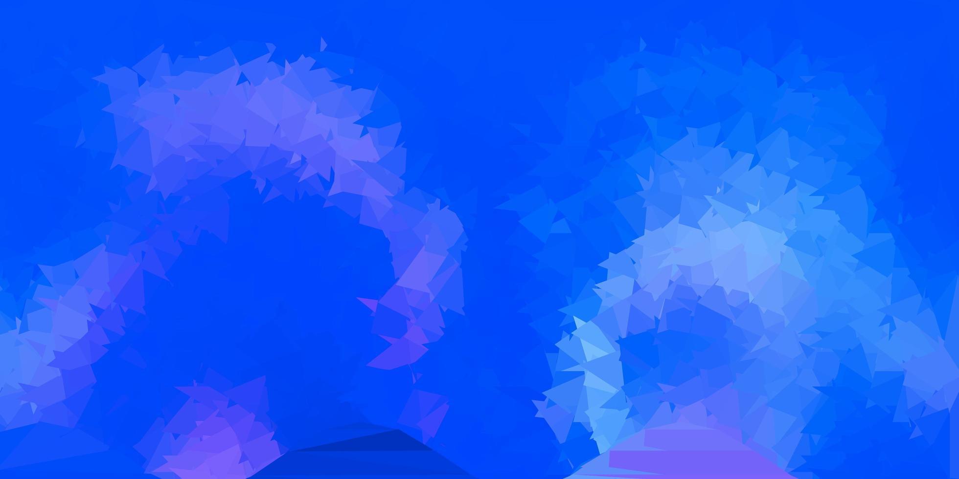 disposition de polygone dégradé vecteur bleu clair.