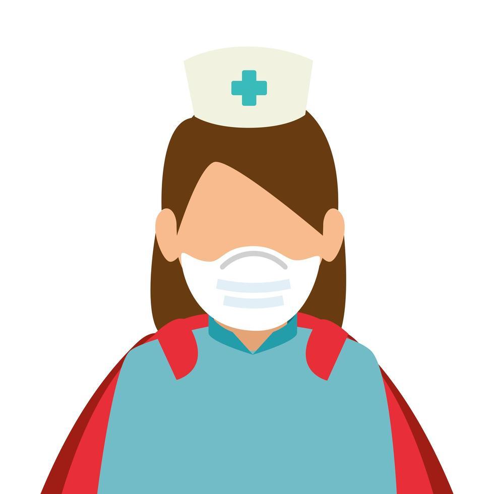 infirmière en super héroïne vecteur