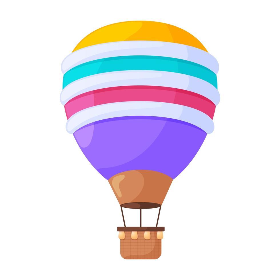 Montgolfieres Dessin Anime Illustration Vectorielle Plane Vehicules Aeriens Vintage Colores Pour Les Vols Isoles Sur Fond Blanc Ballons De Ciel Ornes Dirigeables Avec Des Elements De Conception De Paniers Telecharger Vectoriel