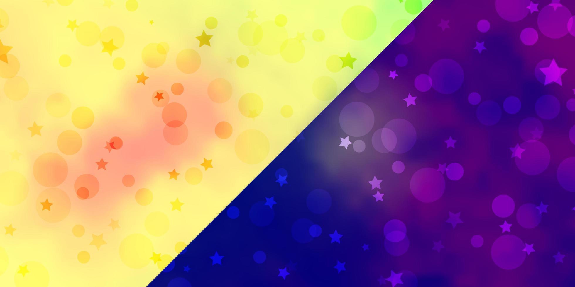 toile de fond de vecteur avec des cercles, des étoiles.