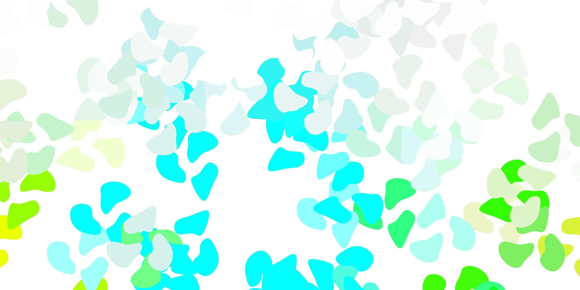modèle vectoriel bleu clair, vert avec des formes abstraites.