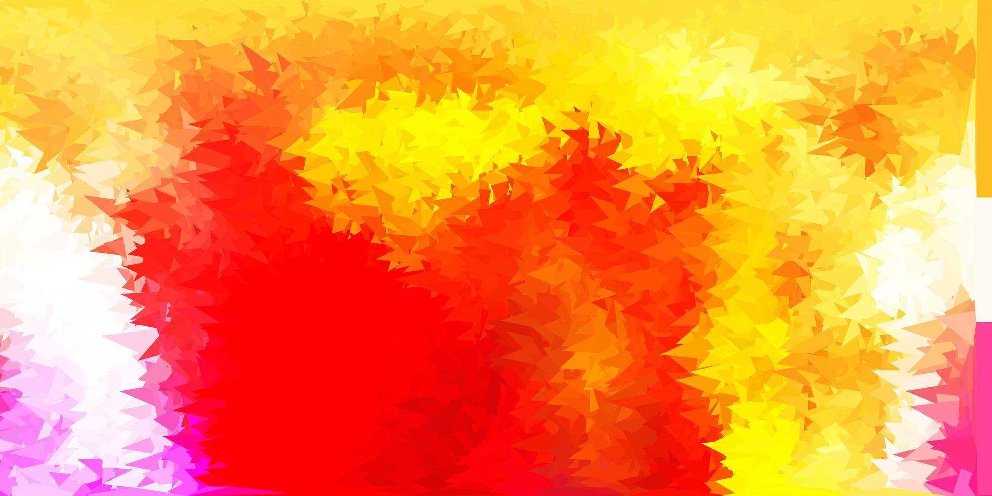 disposition polygonale géométrique de vecteur rouge et jaune clair.